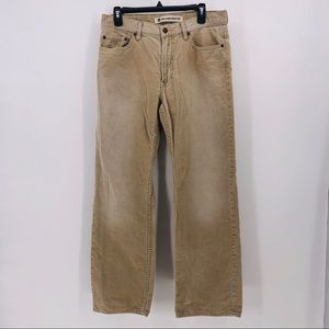 Gap Pants corduroy tan relaxed boot fit size 32x32